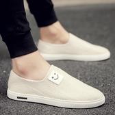 【免運】一腳蹬懶人板鞋男士豆豆潮鞋韓版潮流休閒男鞋透氣老北京布鞋