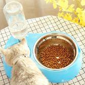 貓咪用品貓碗雙碗貓食盆不銹鋼碗飲水機自動喂食器貓盆狗寵物用品   東川崎町