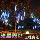 禮物LED流星燈管流星雨彩燈閃燈串燈滿天星戶外防水管戶外掛樹燈Y-0190
