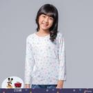 【WIWI】水彩米奇溫灸刷毛圓領發熱衣(純淨白 童100-150)