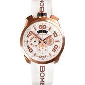 BOMBERG 炸彈錶 BOLT-68 NEON WHITE 計時手錶-45mm BS45CHPG.032.3
