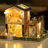 模型屋模型玩具女孩娃娃過家家手工制作木質diy手工小屋公主房子模型屋【限量85折】