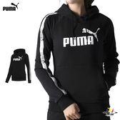 Puma Tape 女 黑 長袖 連帽上衣 帽T 圓領T 衛衣 休閒 運動 健身 棉質 長袖 85387301
