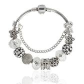 串珠手環-水晶飾品時尚精緻鑲鑽閃亮女配件73kc419【時尚巴黎】
