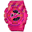 BABY-G 蠟筆紋理運動腕錶     BA-110TX-4A 桃紅