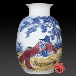 陶瓷手繪人物青花瓷