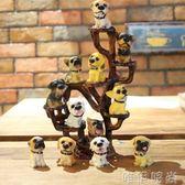 擺件 仿真樹脂12只名犬小狗狗 創意汽車家居裝飾擺件 生日工藝禮品igo      維伊時尚
