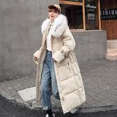 外套 棉襖 羽絨 2020冬裝中長款羽絨棉服女韓版寬松過膝棉襖ins港風棉衣加厚外套
