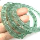 『晶鑽水晶』天然綠螢石手鍊8mm圓柱型~緩解壓力!開啟智慧、增加創意思考與分析能力