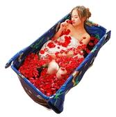 簡易折疊浴缸成人沐浴泡澡桶家用免充氣洗澡盆加厚持久保溫xw 【快速出貨】