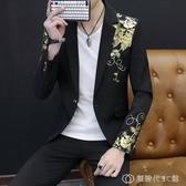 男士韓版修身西服男夏季帥氣個性小西裝夜場男裝休閒西裝薄款外套 創時代3c館