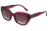 TOD'S 個性角框 小貓眼 太陽眼鏡 (果凍紫)TO144F