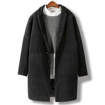 毛呢大衣 男士風衣冬季毛呢大衣男中長款韓版寬鬆加厚青年呢子外套 小天後