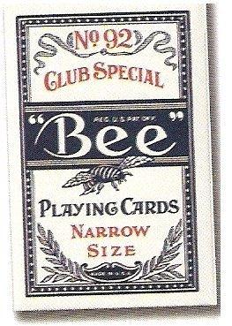 【USPCC撲克館】BEE 92 撲克牌 窄牌 (NARROW SIZE)