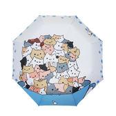 創意太陽傘防紫外線晴雨傘兩用三折疊韓國可愛卡通學生原創遮陽傘 韓語空間