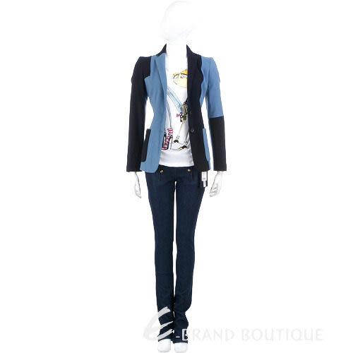 GBR 深淺雙色拼接西裝外套(藍色) 0510826-23