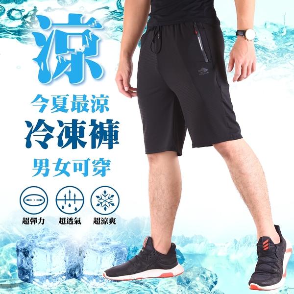 冰鋒褲 極冰涼 四面彈力 運動短褲 涼感褲【CS衣舖】#0636