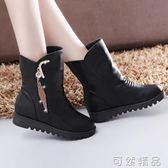 厚底內增高 女鞋短靴流蘇馬丁靴保暖棉靴中筒女靴1 17