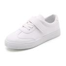兒童小白鞋 兒童帆布鞋春季皮面小白鞋男童女童運動鞋小學生白色板鞋-Ballet朵朵