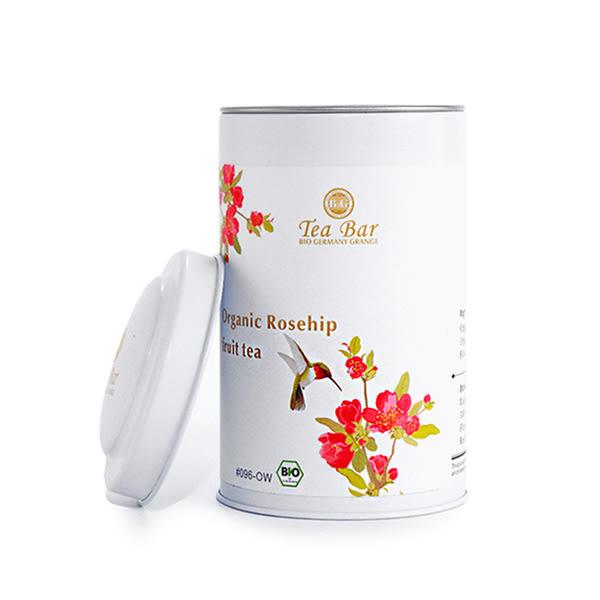 【德國農莊 B&G Tea Bar】有機晶瑩玫瑰果水果茶 中瓶 (150g)