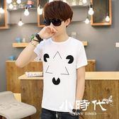 男士短袖T恤圓領純色黑白潮衫  T-XU142