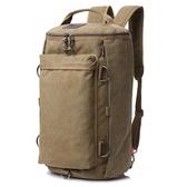 雙肩包韓版潮流男士背包大容量帆布包休閒旅行包戶外登山包電腦包 qz3366【viki菈菈】