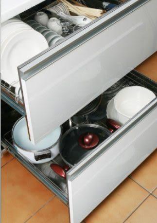 【歐雅系統家具廚具】 Blue Sky ☆崁門片橫抽式烘碗機 ☆BS-7236KSW90