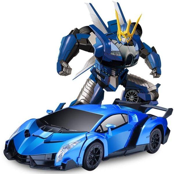 遙控車 電動玩具感應變形遙控汽車金剛機器人充電動遙控車男孩玩具車【快速出貨八折下殺】