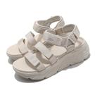Skechers 涼鞋 Max Cushioning 女 米白 厚底 增高 休閒鞋【ACS】 140218NAT