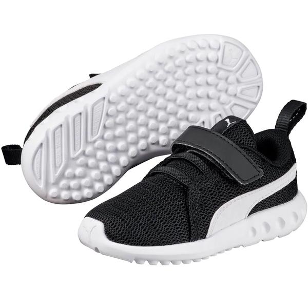 PUMA CARSON 2 V INF 童鞋 中童 慢跑 休閒 網布 輕量 黑白 【運動世界】19056502