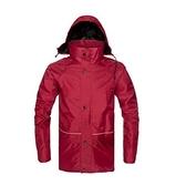 雨衣-加大加厚雙層環保年輕保暖男女風衣式雨具2色71h13[時尚巴黎]