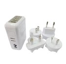 【鼎立資訊】 AC充USB 4Port 多國電源/2A快速充電 (白)