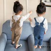 兒童寶寶牛仔背帶褲女童裝牛仔吊帶褲子小童【時尚大衣櫥】