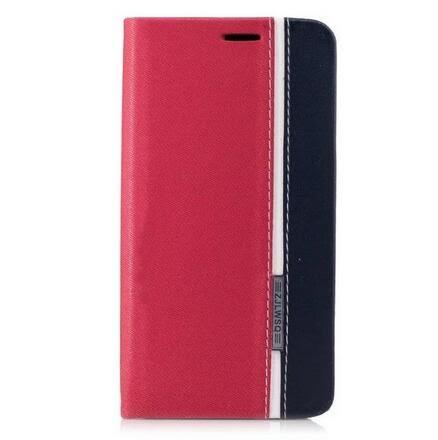 【SZ15】小米 紅米Note4X手機皮套 三色皮套 翻蓋拼接插卡 紅米Note4X手機皮套
