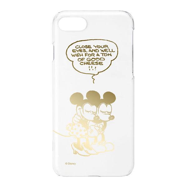 Disney 日本原裝 iPhone 7/8 (4.7吋) PC金箔透明系列手機殼