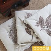 秋冬款棉麻繡花家居裝飾樣板間坐墊椅墊餐椅墊 沙發墊地墊學生gogo購