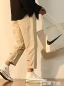 直筒褲ins工裝褲男潮牌港風直筒褲子韓版潮流夏季寬鬆休閒闊腿九分男褲 非凡小鋪