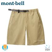 【Mont-Bell 日本 童 Stretch O.D. Shorts 短褲《淺卡其》】1105588/吸濕排汗/防潑水/戶外
