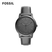 FOSSIL THE MINIMALIST 極薄款男錶-霧黑 44mm