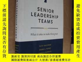 二手書博民逛書店Senior罕見Leadership Teams: What I