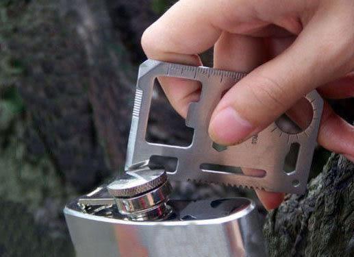 多功能瑞士軍刀卡 / 便攜工具卡、小型救生卡、野外求生卡 登山露營必備