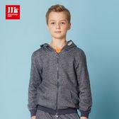 JJLKIDS 男童 時尚噴彩造型休閒外套(藏青)