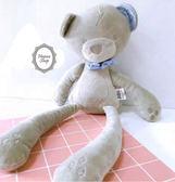 《花花創意会社》英國Papas灰色貴族領結睡眠兔【H5238】