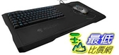 [美國直購]  Roccat Sova Gaming Lapboard, schwarz, LED blau, USB, DE (ROC-12-150-DE)