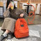 後背包 ins書包女韓版高中大學生潮牌校園簡約百搭森擊古著感少女後背包 3C優購