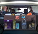 汽車後備箱儲物收納袋座椅背置物袋車載多功能皮革魔術貼儲物網兜 【618特惠】