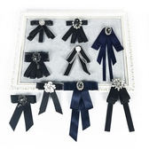 黑色絲帶領結女衣領裝飾