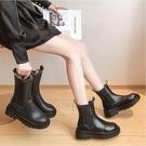 馬丁靴 女內增高2021年新款瘦瘦靴中筒煙筒短靴英倫風春夏百搭【快速出貨八折鉅惠】