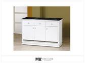 【MK億騰傢俱】ES702-05水鑽白色4尺石面碗盤餐櫃下座