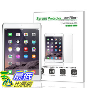 [美國直購 現貨] amFilm iPad Pro 9.7 保護貼 0.33m 2.5D Round Edge Tempered Glass Screen iPad Air 2, iPad Air (..